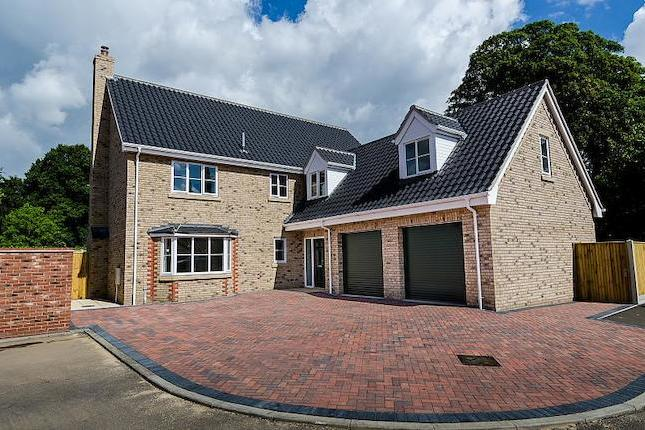 Delighted to present this new build executive detached property (currently under construction), part of an exclusive development on Newmarket Road. The property offers accommodation including entrance hall, lounge, kitchen/dining room, utility room, conservatory, cloakroom, 5 bedrooms, master with en-suite and dressing room, guest bedroom with en-suite, family bathroom, enclosed rear garden and attached double garage. The property will be finished to a very high standard and will benefit from uPVC sealed unit double glazing throughout and full gas fired central heating. Energy rating B.   Hallway  Single and double cupboard and alarm panel.  Kitchen/dining room 26' x 17' max   A range of kitchen styles comprising of fitted based and wall units, granite work tops and sink drainer unit. Integrated appliances: Fridge/freezer, oven, hob and extractor. Ceiling spotlights, powerpoints and rear facing UPVC double glazed windows, double doors leading to conservatory.  Dining area  Side facing UPVC window, power points and tv point.  Utility  A variety of kitchen base and wall units with sink drainer and work tops. Space and plumbing for washing machine. Door to the rear leading into garden.  Conservatory 13' x 10'  Double doors to side leading to patio area.  Cloakroom  White suite complete with hand wash basin, low level wc, tiled flooring and UPVC front facing window.  Living room 26' max x 13'  Wood burner feature, tv points, satellite points, front facing UPVC window and rear facing bay window.  Family bathroom 8'9 x 8'3  White suite including hand wash basin, bath, extractor and low level wc, half tiled walls, heated towel rail and front facing UPVC window.   Master bedroom 15' x 12'10  Complete with en suite, side and rear facing UPVC window, tv point, power points and telephone points and leads to:  Dressing Room 5'9 m x 10'5m  ensuite 7'11 x 6'7  White suite, fully tiled shower cubicle, wash hand basin, low level wc, heated towel rail and rear facing UPVC obscured window.  Bedroom 2 20'9 max x 13'12   Ensuite, built in double wardrobe, tv and power points, front facing dormer window and gable end window.  Ensuite  White suite, fully tiled shower cubicle, wash hand basin, low level wc, heated towel rail and rear facing UPVC obscured window.  Bedroom 4 9'2 x 13'  Front facing UPVC window, built in double wardrobe, tv and telephone point.  Bedroom 3 13'1 x 10'7  Rear facing UPVC window, tv and telephone point and built in double wardrobe.  Bedroom 5 11'5 x 10'5  Rear facing UPVC window, tv point, telephone point and built in double wardrobe.   Outside  Elevated aspect, enclosed rear garden laid to lawn with patio.  Attached double garage including electric roller door.   Parking   all details and measurements are approximate due to the building works being incomplete.