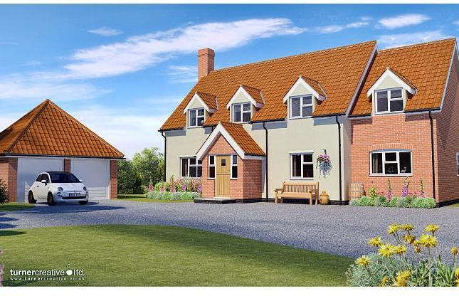 Landingpad are delighted to offer this executive new build four bedroom bespoke detached chalet house (currently under construction by G & C Homes Ltd) the property enjoys rural views to the rear and is situated in the popular village of Ormesby Saint Margaret. Ground floor accommodation comprises of an entrance lobby, hallway, lounge, kitchen/breakfast room, utility, garden room and cloakroom. First floor includes a master bedroom with en-suite, a further three bedrooms and family bathroom.  Outside offers detached double garage, patio area and front and enclosed rear garden.  Predicted energy rating B   entrance porch Door through to:  Hallway Built in cupboard and door leading through to:  Lounge 22' 7 x 13' 5 (6.9m x 4.1m)  Large front and rear facing windows and two small side facing windows.   Study 11' 1 x 9' 10 (3.4m x 3m)  Front facing window.  Kitchen/breakfast room 20' x 16' reducing to 10' 6 (6.1m x 4.9m reducing to 3.2m)  Front and side facing windows.  Pc sum allowance for buyers choice of kitchen.  Utility  Built in cupboard and rear facing door leading out onto patio and garden area.  Garden room 15' 9 x 11' 1 (4.8m x 3.4m)  Large rear facing window, side facing window and side facing double doors leading out onto patio and garden area.  Cloakroom  White suite including wash hand basin and WC and small rear facing obscured window.  Master bedroom 13' 9 x 13' 1 (4.2m x 4m)  Front facing window, two built in cupboards and door through to:  En-suite  White suite including shower cubicle, wash hand basin and WC and a rear facing obscured window.  Bedroom 2 20' x 10' 6 (6.1m x 3.2m)  Front facing window.   Bedroom 3 10' 9 x 9' 6 (3.3m x 2.9m)  Front facing window.  Bedroom 4 12' 9 x 8' 6 (3.9m x 2.6m)  Rear facing window.  Family bathroom  White suite comprising of bath, wash hand basin and WC and a rear facing obscured window. Garage space for 2 cars  Parking  Central Heating   all details and measurements are approximate due to the building works being incomplete.