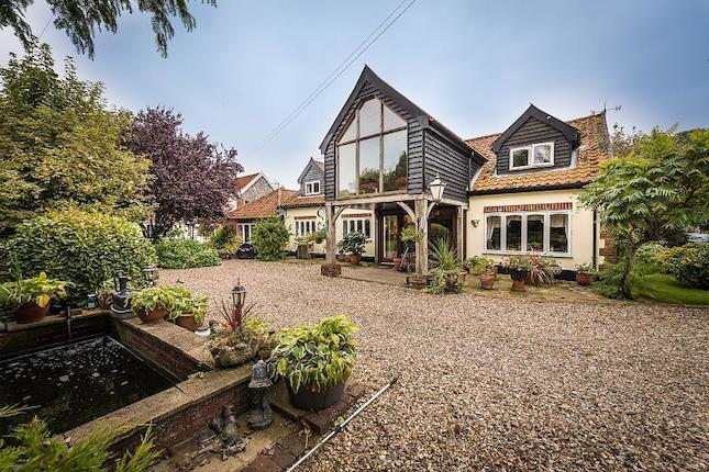 5 bed stunning barn conversion with 3 bed flint fronted cottage.