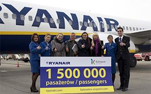 Ryanair cebrates 1.5m pax