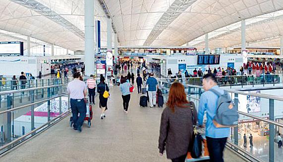 Hong Kong International Airport entrance