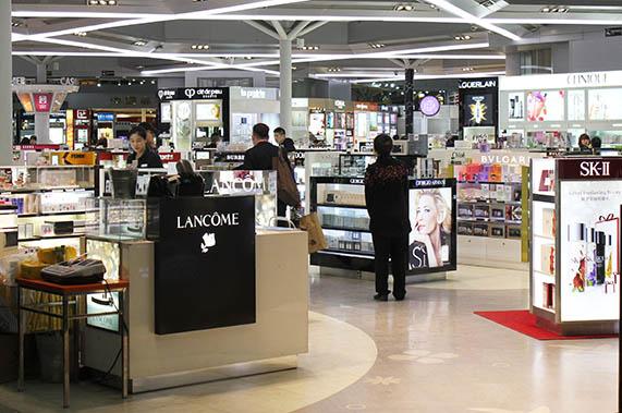 Beijing Airport Shopping Duty Free Shops at Beijing