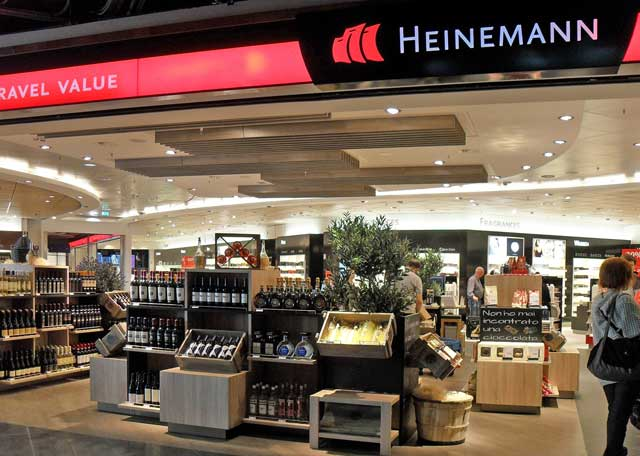 heinemann expands duty free store at bologna airport travel retail business. Black Bedroom Furniture Sets. Home Design Ideas